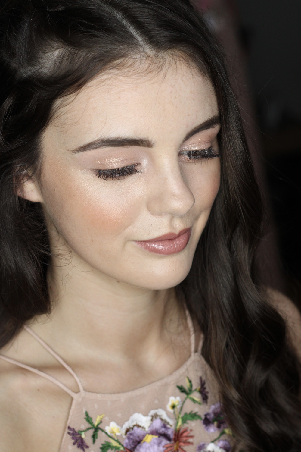 Super cute bridesmaid look. Using some golds to pick up the colours in the dress and compliment her skin tone. - Make Me Bridal Artist: I Love It Laura. Photography by: Laura Allen. #bridesmaid #bridesmaidmakeup #hertfordshiremakeupartist #londonmakeupartist