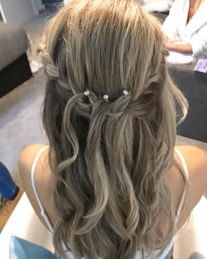 - Make Me Bridal Artist: Hannah Cliffe MUA. #bohemian #halfuphair #flowersinherhair