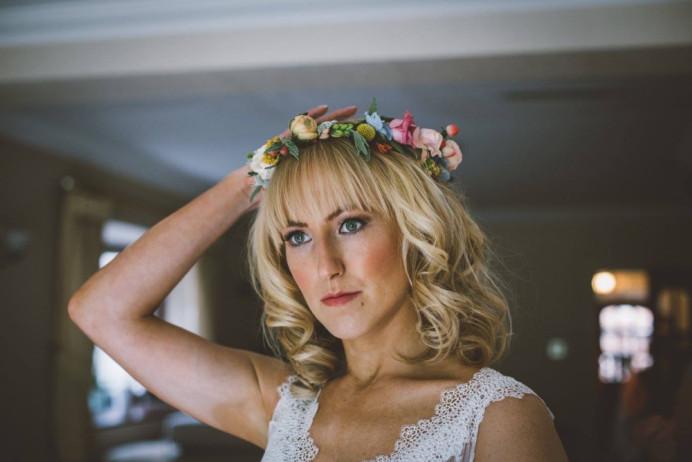 Bride hair and makeup by me - Make Me Bridal Artist: Flame Beauty. Photography by: One Love Pictures. #bohemian #boho #flowercrown #weddinghair #weddinghairandmakeup #bohobride #weddingmakeup #kent