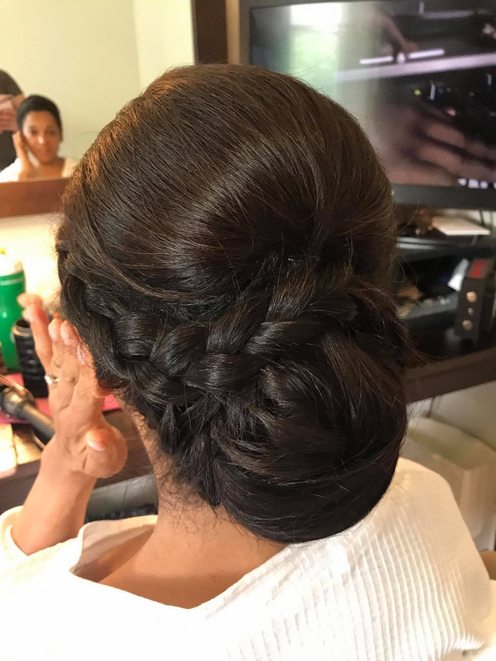 Hair by me - Make Me Bridal Artist: Flame Beauty. #bridalhair #weddinghair #plaits #plaitupdo
