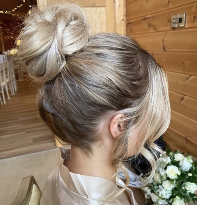 - Make Me Bridal Artist: Charlotte Rose Hairstylist. #classic #blonde #updo #bridesmaidhair #highbun #bridalhair #bridesmaid