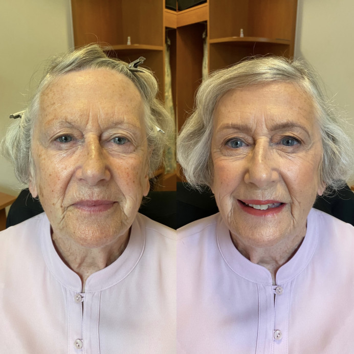 - Make Me Bridal Artist: @iambridaluk. Photography by: iPhone photo- Before & After!. #motherofthebride