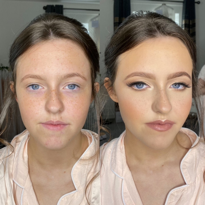 - Make Me Bridal Artist: @iambridaluk. Photography by: iPhone - Before & After. #bridesmaidmakeup