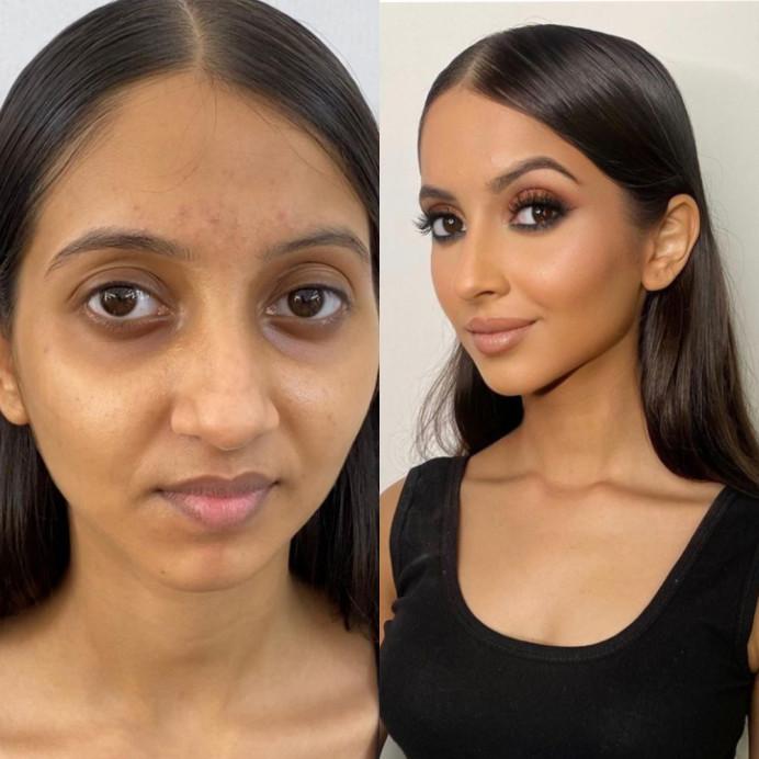 - Make Me Bridal Artist: Mandy Samra Makeup Artistry. #brunette #asianbride #beforeandafter