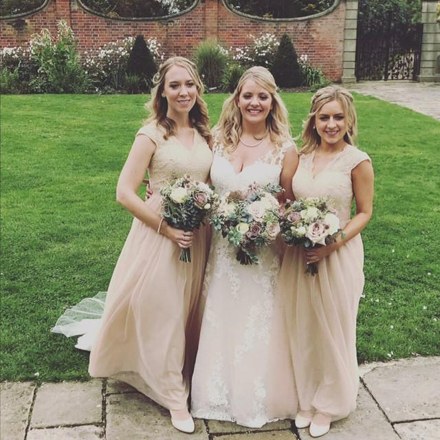 Oct 2017 Fanhams Hall - Make Me Bridal Artist: Final touches.