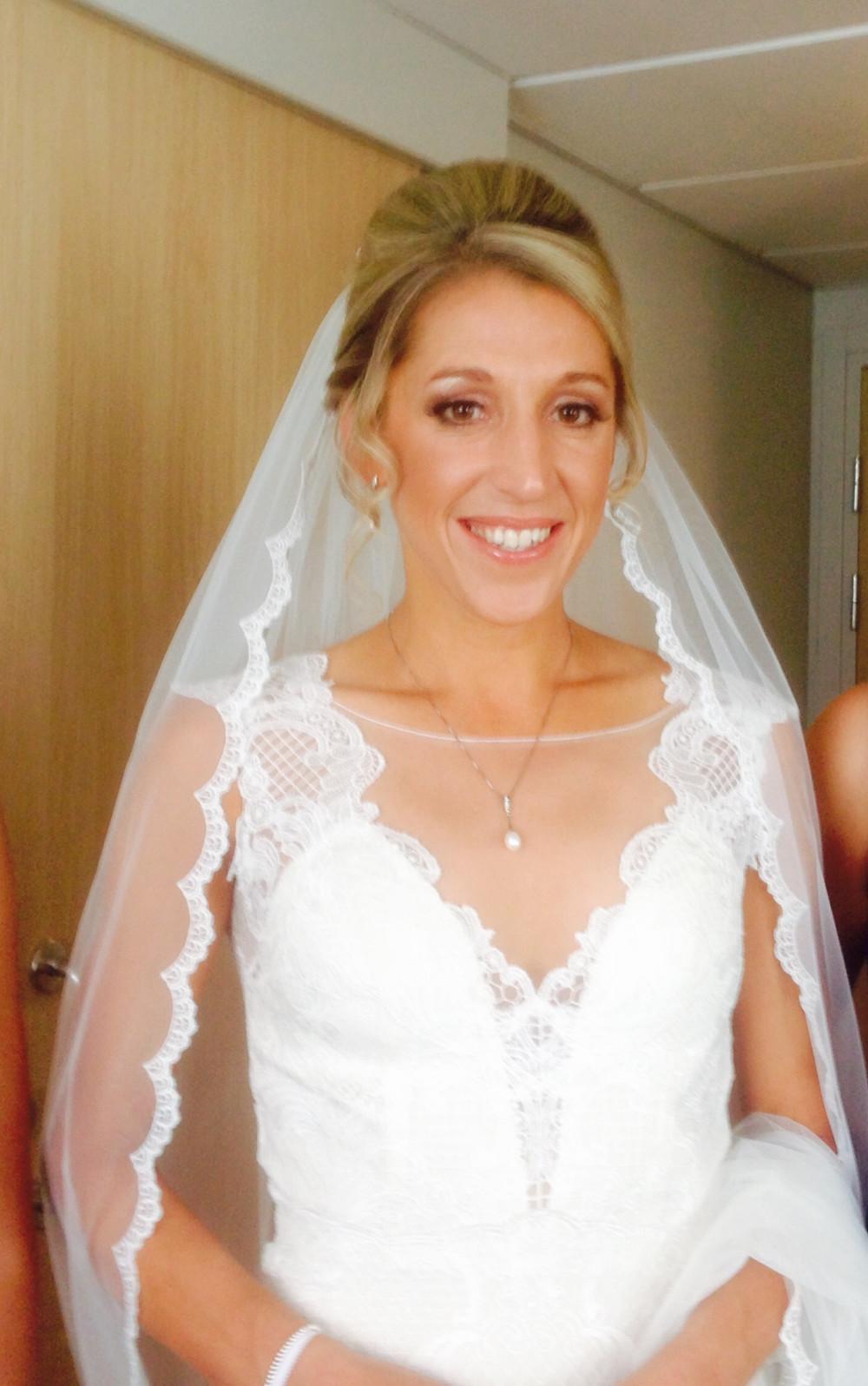 Gabby August 2017 - Make Me Bridal Artist: Final touches.