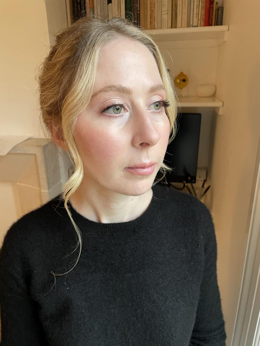 Natural makeup on pale skin - real bride - Make Me Bridal Artist: Quelle Bester. #classic #vintage #naturalmakeup #dewyskin #pinklipstick #paleskin