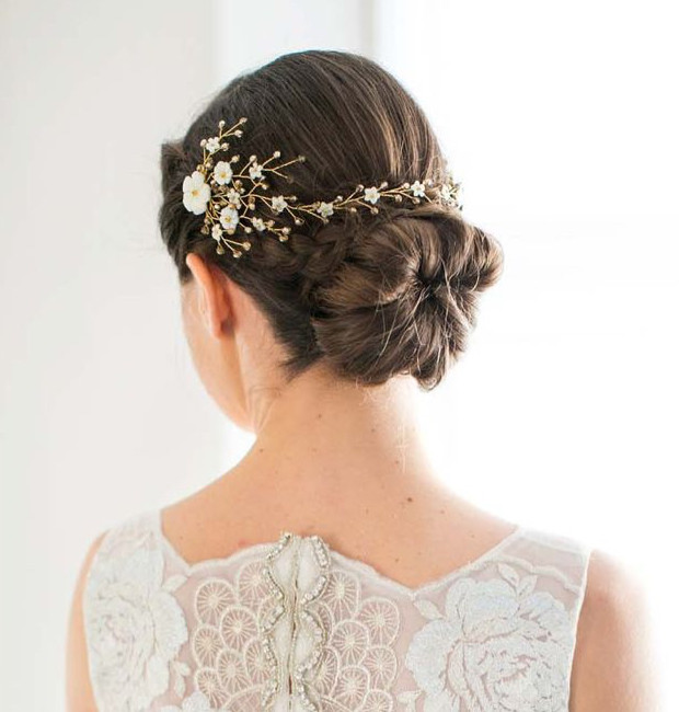 Classic low bun with braid detail - Make Me Bridal Artist: Amanda Roberts Hair & Makeup. Photography by: Anneli Marinovich. #classic #updo #lowupdo #lowbun #hairaccessories