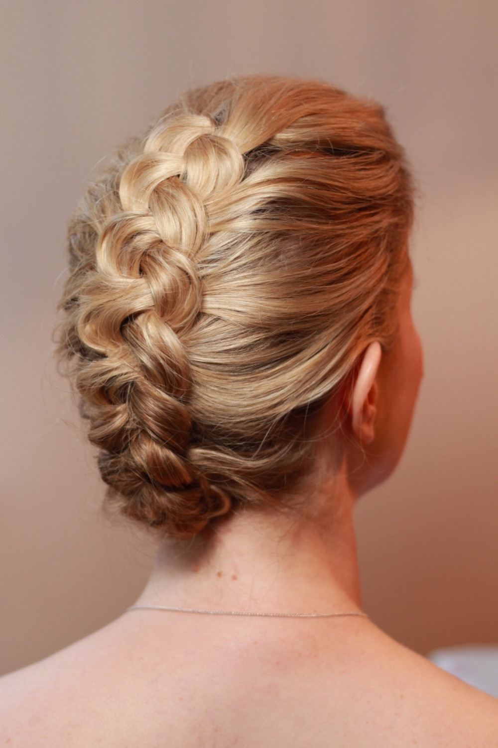 Simple and elegant Dutch braid. - Make Me Bridal Artist: Amanda Roberts Hair & Makeup. Photography by: Amanda Roberts. #blonde #hairup #dutchbraid #dutchplait
