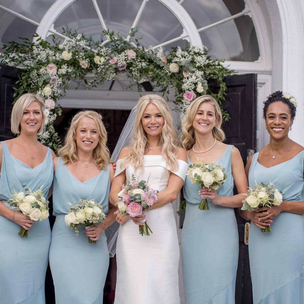 - Make Me Bridal Artist: Amanda Roberts Hair & Makeup. Photography by: Andy Mac Photography. #glamorous #boho #naturalmakeup #halfuphair #bridalmakeup #updo #blonde #hairup #bridesmaidhairandmakeup #weddinghairandmakeup #bridesmaids