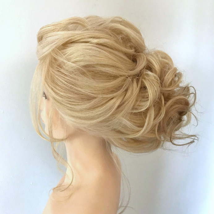 Lockdown hairstyling - keeping my practice up when I was unable to work. - Make Me Bridal Artist: Amanda Roberts Hair & Makeup. #glamorous #updo #softupdo #softhairup #loosehairup