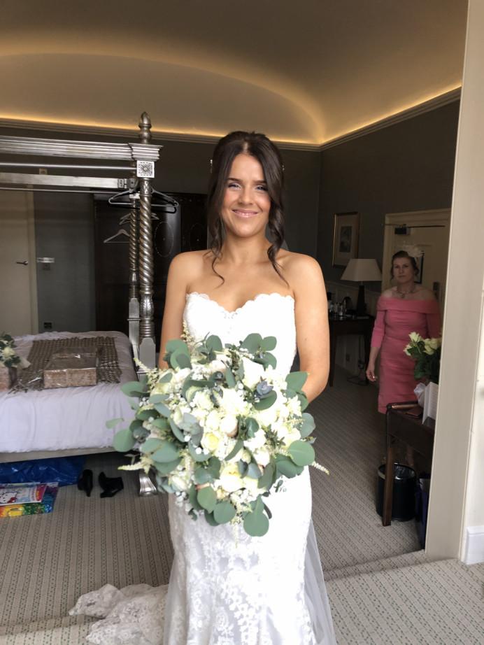 Glowing skin and natural hair. - Make Me Bridal Artist: Neecol Whyte Weddings. #classic #naturalmakeup #bridalmakeup #bridalhair #romantichairup #hairup #dewyskin #glowingskin