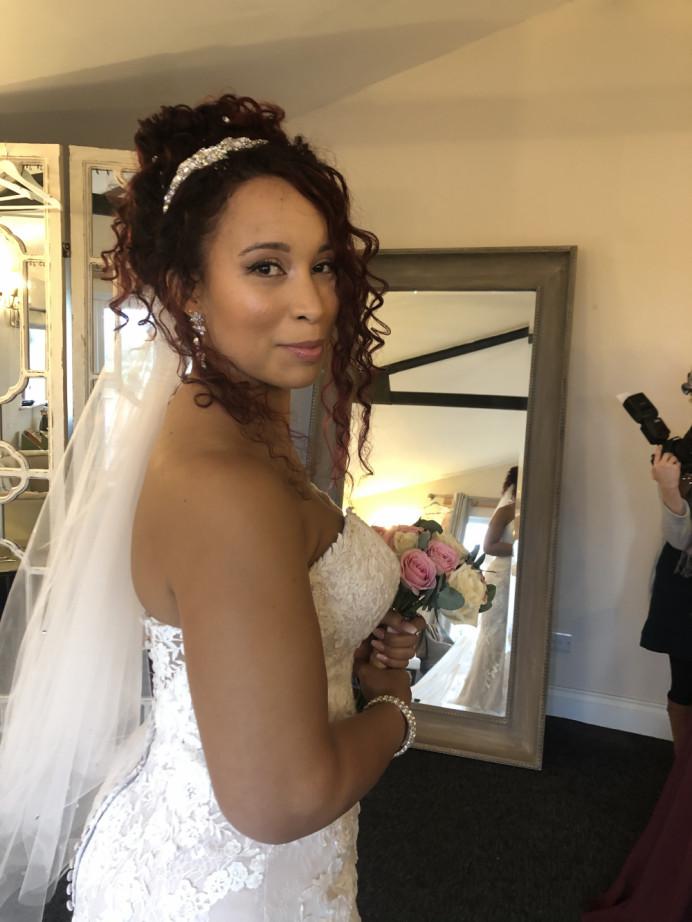 - Make Me Bridal Artist: Neecol Whyte Weddings. #classic #glamorous #bridalmakeup #bridalhair #hairup #curlyupdo