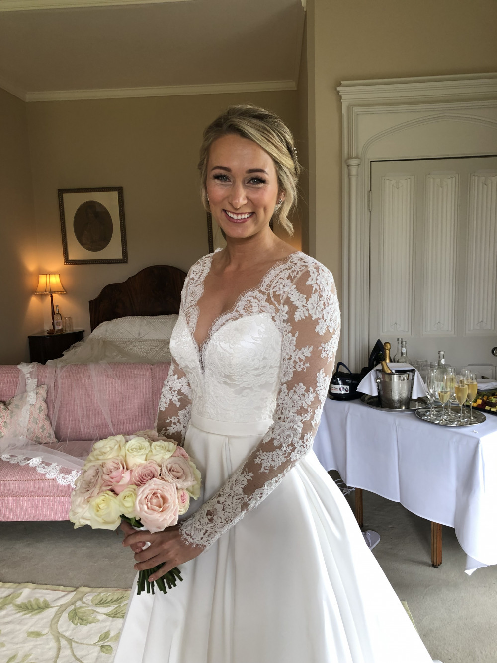 Gorgeous glowing skin and a swept up do for this beauty. I concentrate on the skin prep for all my brides to ensure they have the perfect bridal glow! Hair and makeup by Neecol Corry Weddings - Make Me Bridal Artist: Neecol Corry Weddings. #classic #glamorous #naturalmakeup #bridalmakeup #bridalhair #softupdo #glowingskin