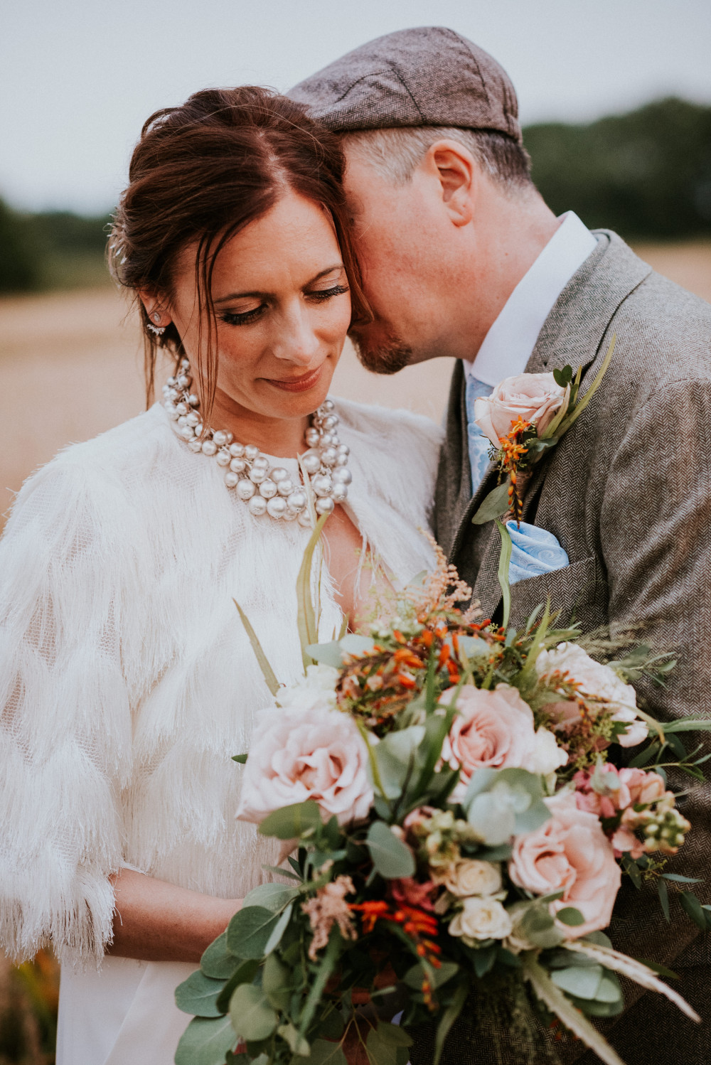 Modern, Bohemian Bride. Fresh skin, with a soft smokey eyes. - Make Me Bridal Artist: Story Hair and Makeup. Photography by: Ginger snaps Photography. #bohemian #glamorous #bridalmakeup #modernbride