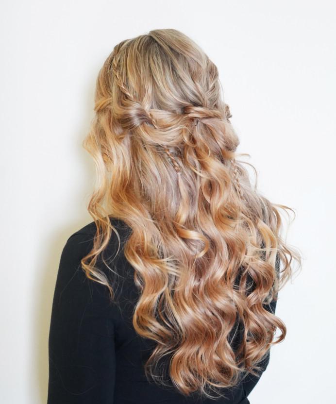 - Make Me Bridal Artist: Bridal Hair Artist Yuki Black. #boho #bohemian #halfuphair #curls #blonde #bohobride