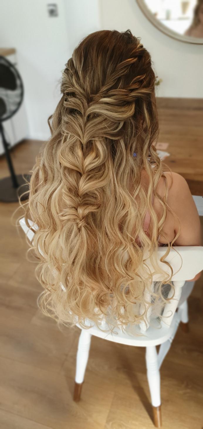 - Make Me Bridal Artist: Bridal Hair Artist Yuki Black. #bohemian #boho #glamorous #halfuphair #curls #blonde #bridalhair #blonde #braid #bridesmaidhair #fishtailbraid #bridalhair #boho #blondebride #beachvibes #beautifulhair #bohowedding #boho #bohobride #bohowaves #loosecurls #loosecurls #longhair #longhair #curlyhair #curlyhair #longhairstyle #longhairstyle